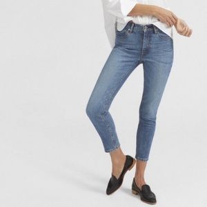 EVERLANE blue mid rise skinny jeans size 33